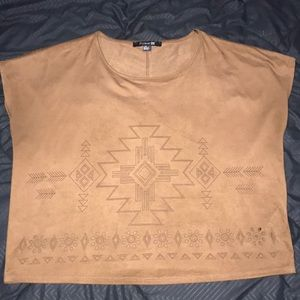 Brown top with tribal designs